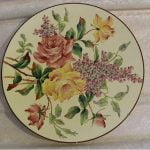 Plate with flowers decor, Longchamps.