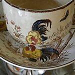 Tea cup, detail.